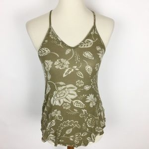🌷SILENCE + NOISE Green Floral T-Back Tank